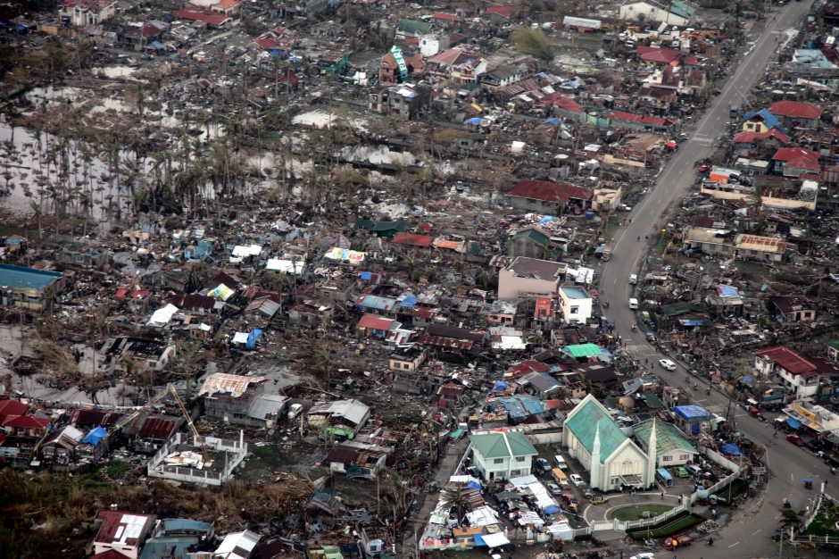 """Aerial view of Tacloban after Typhoon Haiyan"" © Russell Watkins/UK Department for International Development"