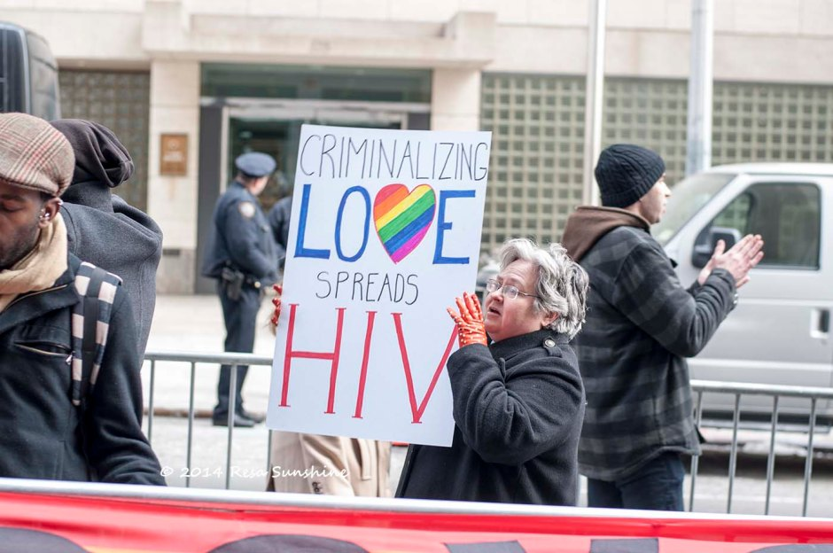 """Global Day of Action against Uganda's Anti-Gay Laws."" © A Jones New York, March 5, 2014."