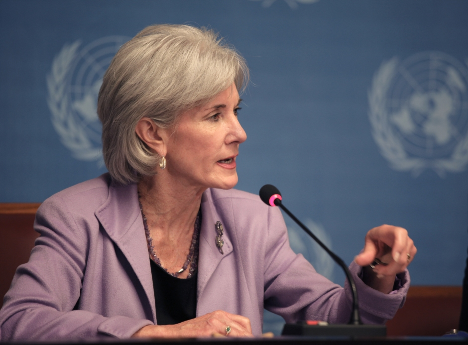 """Kathleen Sebelius, Secretary of Health and Human Services"" © United States Mission Geneva. The link between foreign policy and health is growing stronger."