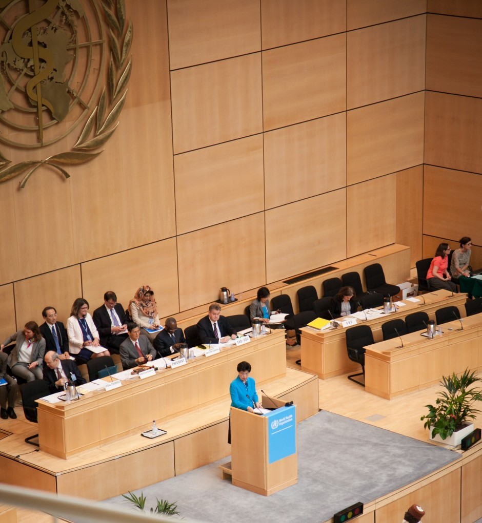 ©Trisa Taro. WHO Director-General Margaret Chan giving the opening remarks on Day 1 of WHA66